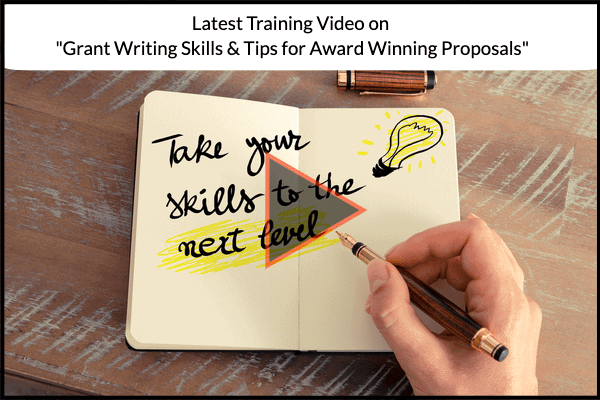 Latest Training Video on Grant Writing Skills & Tips for Award Winning Proposals