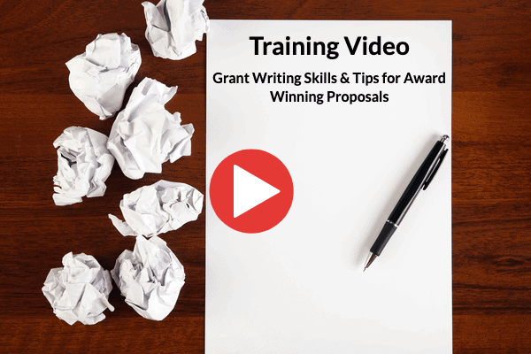 "Training Video on ""Grant Writing Skills & Tips for Award Winning Proposals"""