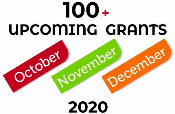 100+ Top Upcoming Funding Opportunities for NGOs opening in Oct/Nov/Dec 2020