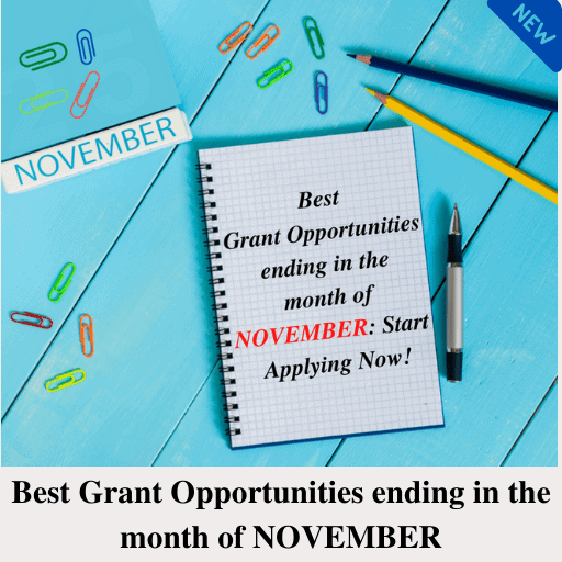 Best Grant Opportunities ending in the month of NOVEMBER: Start Applying Now!
