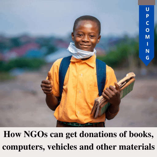 How NGOs can get donations of books, computers, vehicles and other materials