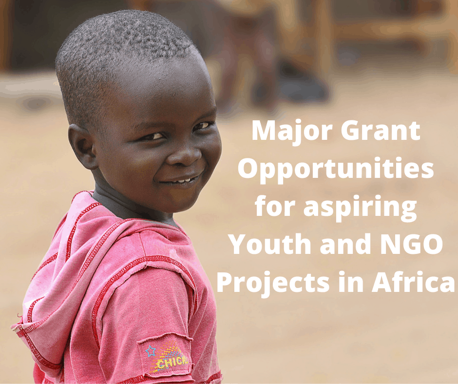 Major Grant Opportunities for aspiring Youth and NGO Projects in Africa