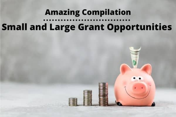 Amazing Compilation on Small and Large Grant Opportunities