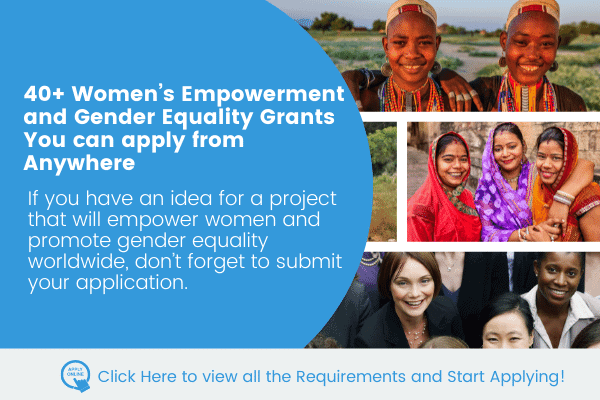 40+ Open Calls for New Project Ideas on Women Empowerment and Gender Equality