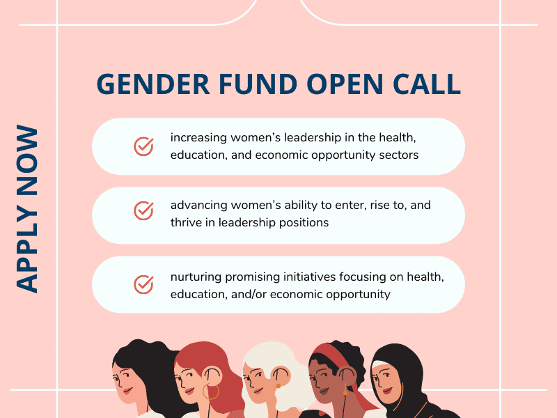 Co-Impact Gender Fund - An Open Call for Country-level Grants